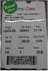 Boarding pass garuda indonesia